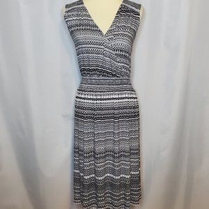 Lane Bryant Black and White Sleeveless Dress